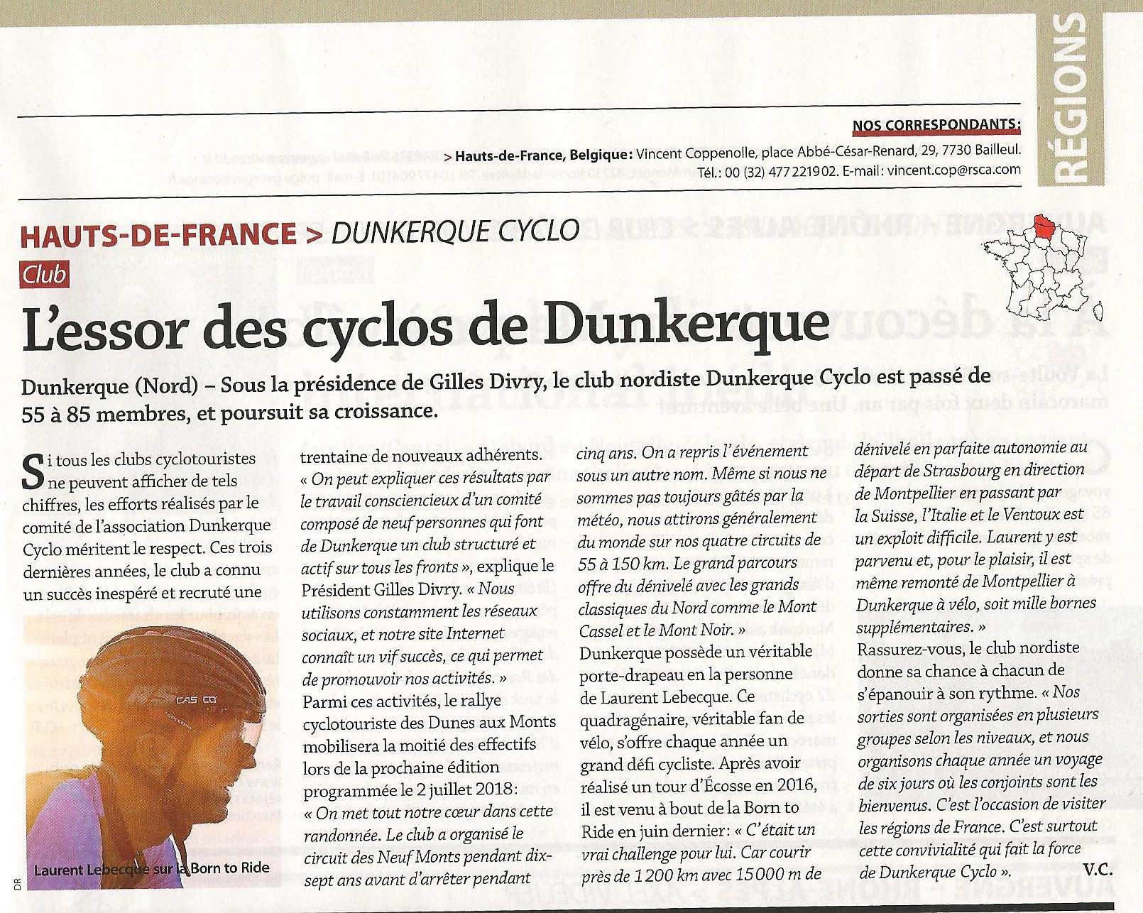 dunkerque cyclo dans le magazine le cycle dunkerque cyclo. Black Bedroom Furniture Sets. Home Design Ideas